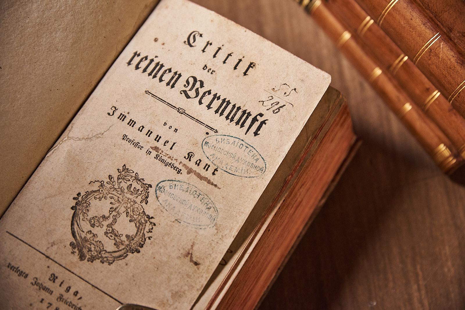 Immanuel Kant: Critik der reine Vernunft. Erste Ausgabe, Riga 1781.