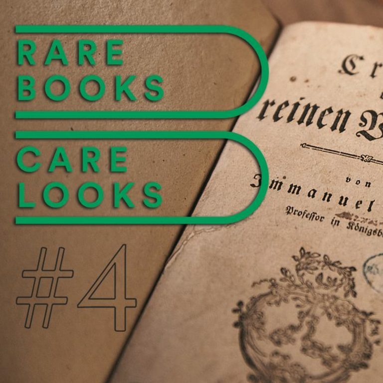 "RARE BOOKS CARE LOOKS Folge 4: Immanuel Kant ""Critik der reinen Vernunft"""